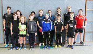 Teilnehmer der Vereinsmeisterschaften im Juniorenbereich